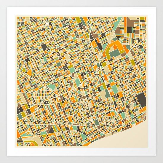 Detroit Map Art Print