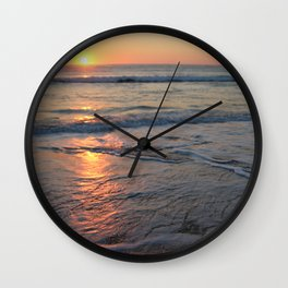 Sunrise over the Indian Ocean Wall Clock
