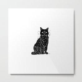Universe Cat Metal Print