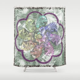 Lion in the Lotus Shower Curtain