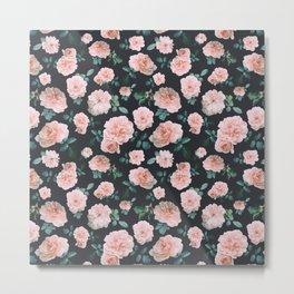 Light Pink Roses Flower pattern Metal Print