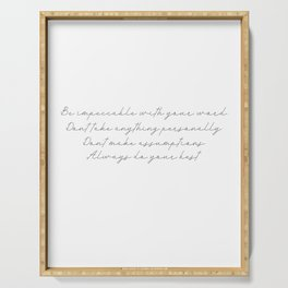The Four Agreements 17 #minimalism #inspirational Serving Tray