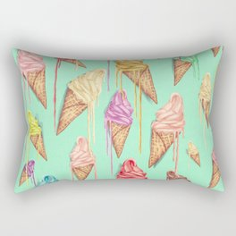 melted ice creams Rectangular Pillow