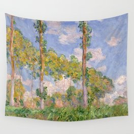 1891-Claude Monet- Poplars in the Sun-73 x 93 Wall Tapestry