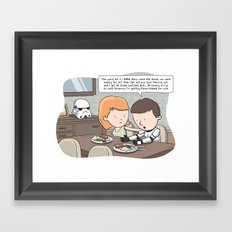 Force-Choked Framed Art Print