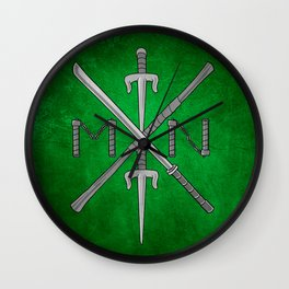 Weapons Down - TMNT Wall Clock