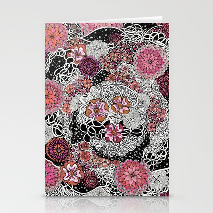Tangled up in Blooms Stationery Cards