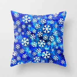 Abstract snowflakes pattern  Throw Pillow