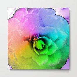 Rainbow Blossom Metal Print