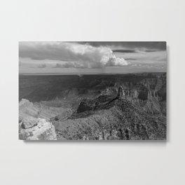 North_Rim Grand_Canyon, AZ - B&W II Metal Print