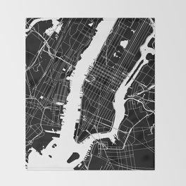 New York City Black On White Throw Blanket