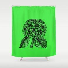 Green Hydrangea Shower Curtain