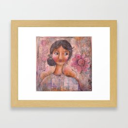 She Listened to the Whispers of Her Soul Framed Art Print