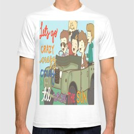 One Direction Live Like We're Young Cartoon T-shirt