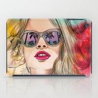 coachella iPad Cases featuring Palm Springs by Sara Eshak