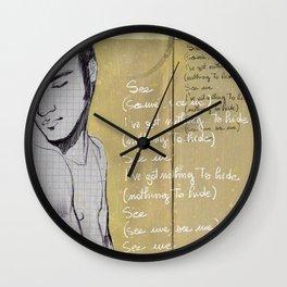 Se chiudo gli occhi Wall Clock