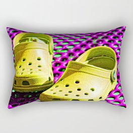 Pop Art Crocs By Sharon Cummings Rectangular Pillow