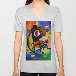 Abstract Composition 100 Unisex V-Neck