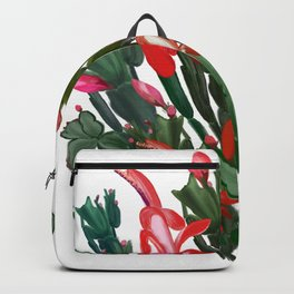 Hand drawn Schlumbergera Christmas, Thanksgiving cactus Backpack