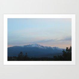 Pikes Peak in the Evening Art Print