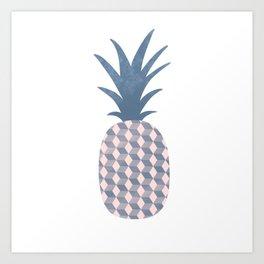 Cubical Pineapple Art Print
