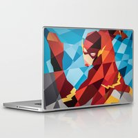 dc comics Laptop & iPad Skins featuring DC Comics Flash by Eric Dufresne
