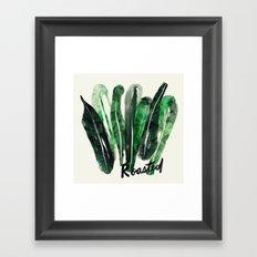 Roasted Kale | 100 Days of Cookbook Spots Framed Art Print
