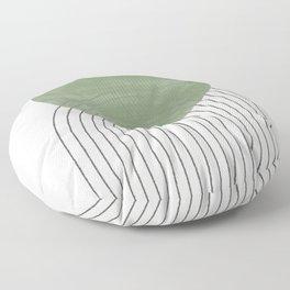Green Sun Positive Vibe  Floor Pillow