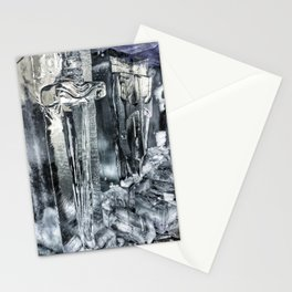 Ice Sword and Shield Carving at Icestravaganza, 2017 Stationery Cards