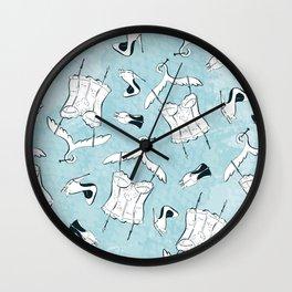 White Nighties Wall Clock