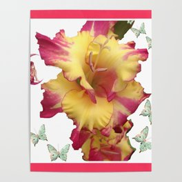 Butterflies Fairies and The Gladiola  Poster