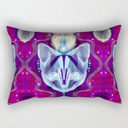 Pixel Galacticat Pink/Blue Rectangular Pillow