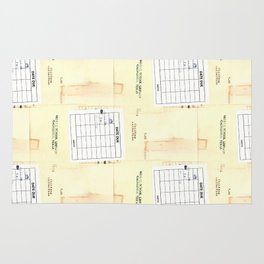 Library Book Date Due Card Rug