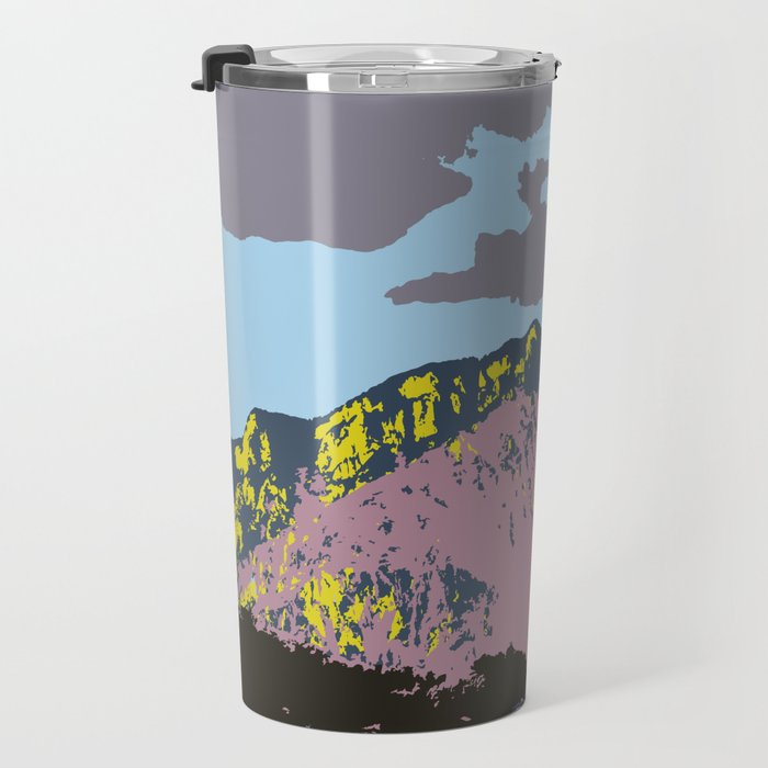 POP MOUNTAINS #001 BY CAMA ART Travel Mug