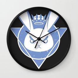 Bunny King - Blue Emblem Wall Clock