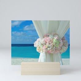 Tropical Beach Wedding Mini Art Print