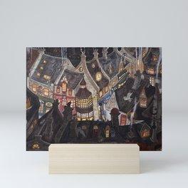 Roofs of magic town Mini Art Print
