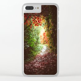 Autumn Tunnel Clear iPhone Case