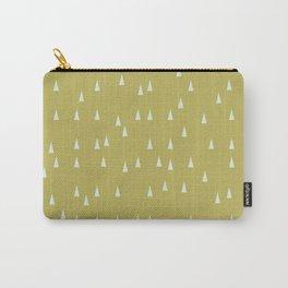 Mini retro tree pattern - Green & Aqua Carry-All Pouch
