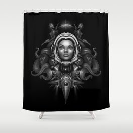Space Horror 3000 Shower Curtain