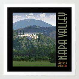 Napa Valley - Sterling Winery, Calistoga District Art Print