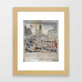 Vintage Boston Massacre Illustration (1770) Framed Art Print