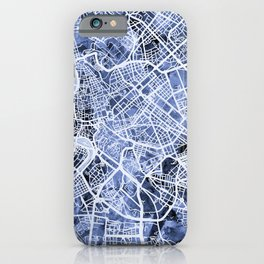 Rome Italy City Street Map iPhone Case