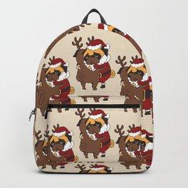 Pug Hugs Christmas Backpack