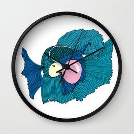 Betta bubble white Wall Clock