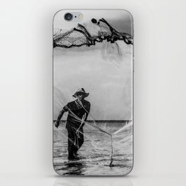 Casting the net iPhone Skin
