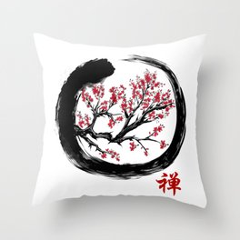 Japanese ENSO ZEN Buddhist SHIRT Throw Pillow