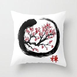 Japanese ENSO ZEN Buddhist SHIRT Throw Pillow