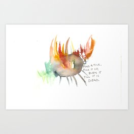 Find a Tick Art Print