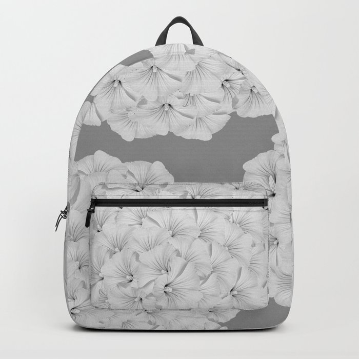Flowerpower - Flower Balls On A Grey Background - #society6 Backpack
